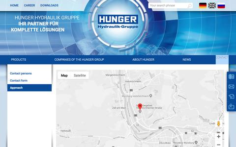 Screenshot of Maps & Directions Page hunger-group.com - HUNGER Hydraulik Gruppe:Approach - captured Nov. 4, 2018
