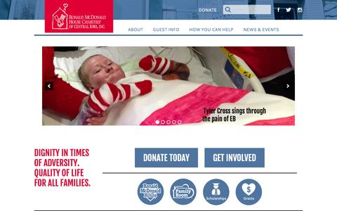 Screenshot of Home Page rmhdesmoines.org - RMH DesMoines | The House That Love Built - captured Jan. 26, 2015