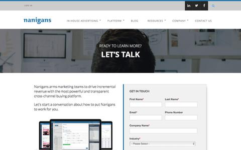 Contact Us | Nanigans – Advertising for Incremental Revenue
