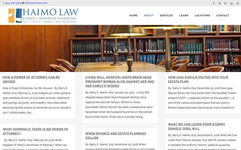 Screenshot of Blog haimolaw.com - Blog - Haimo Law - captured Dec. 18, 2018