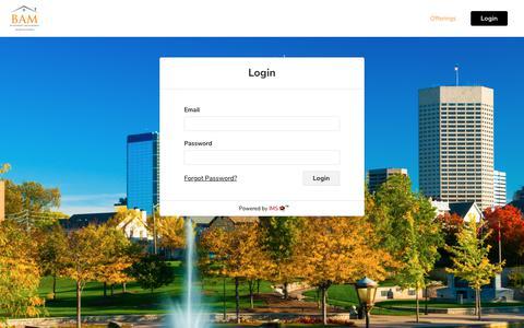 Screenshot of Login Page barrattassetmanagement.com - Barratt Asset Management - captured June 1, 2017