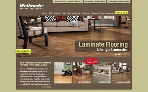 Screenshot of Home Page wellmadefloors.com - Wellmade Bamboo Flooring - captured Feb. 18, 2016