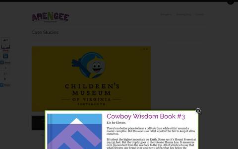 Screenshot of Case Studies Page arengee.com - Children's Museum of Virginia | Arengee - captured Oct. 4, 2014
