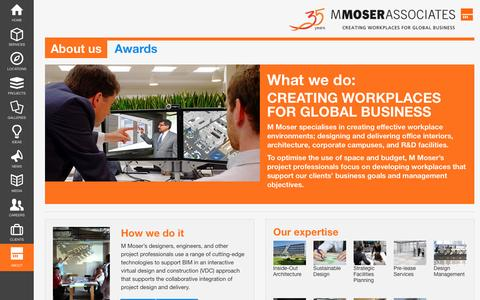 Screenshot of About Page mmoser.com - About us | M Moser Associates - captured Feb. 2, 2016