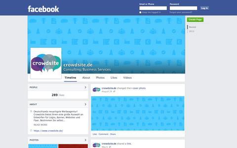 Screenshot of Facebook Page facebook.com - crowdsite.de - Oldenzaal - Consulting/Business Services | Facebook - captured Oct. 30, 2014