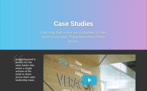 Screenshot of Case Studies Page insightsquared.com - Case Studies and Testimonials for InsightSquared - captured March 31, 2017