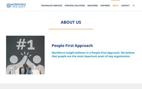 Screenshot of About Page workforceinsight.com - About WFI | Workforce Insight - captured July 4, 2019