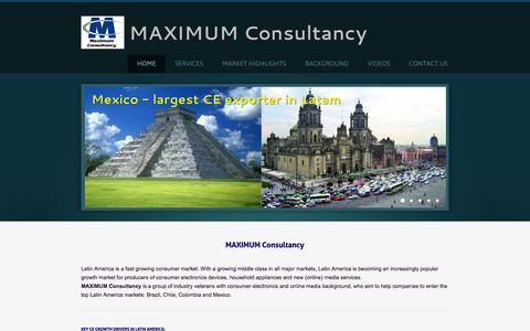 Screenshot of Home Page maximumconsultancy.com - Maximum Consultancy - Maximum Consultancy - HOME - captured Sept. 30, 2014