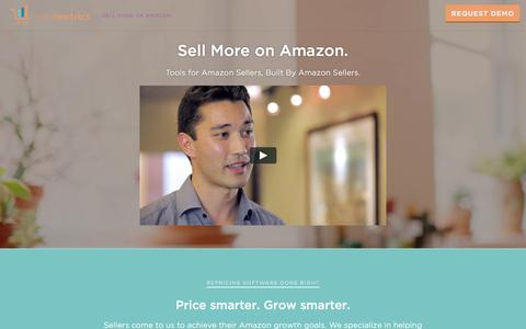 Screenshot of teikametrics.com - Amazon Repricing & FBA Inventory Management- Teikametrics - captured Aug. 20, 2016