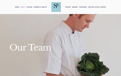 Screenshot of Team Page selkirkarmshotel.co.uk - The Team — Selkirk Arms Hotel - captured July 26, 2018