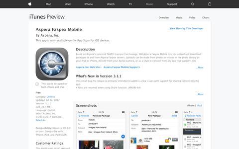 Aspera Faspex Mobile on the App Store