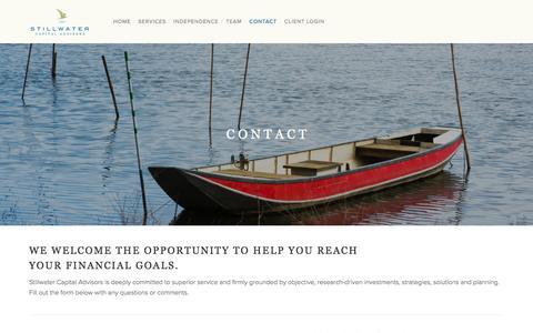 Screenshot of Contact Page stillwateradv.com - Contact — Stillwater - captured Dec. 2, 2016
