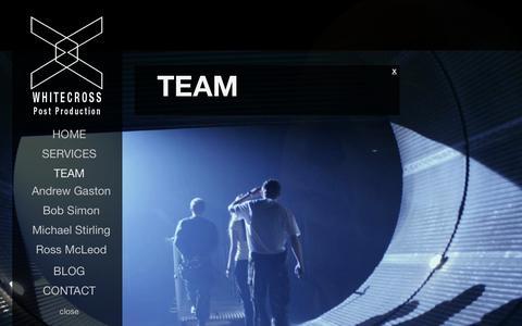 Screenshot of Team Page whitecross.tv - TEAM | WHITECROSS - captured Oct. 9, 2014