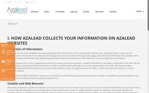 Privacy - Azalead - Account Based Marketing Software