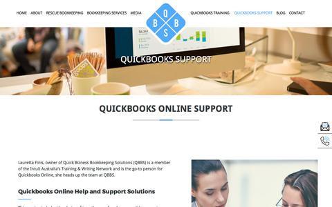 Screenshot of Support Page qbbs.com.au - Quickbooks Support | QBBS - captured Sept. 11, 2017