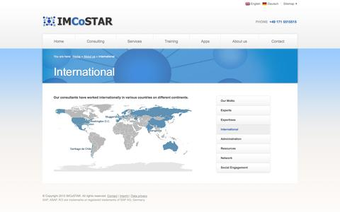 Screenshot of Locations Page imcostar.com - International | IMCoSTAR | SAP CRM Management Service - captured Oct. 3, 2014