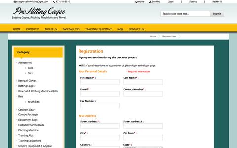 Screenshot of Signup Page prohittingcages.com - Register User - captured Sept. 19, 2014