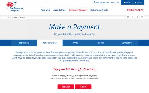 Make a Payment - AAA Life Insurance Company