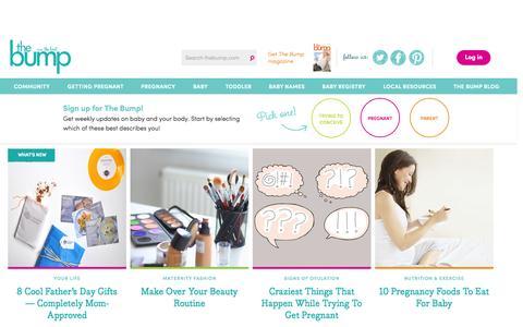 Screenshot of Home Page thebump.com - TheBump.com - Pregnancy, Parenting and Baby Information - captured June 19, 2015