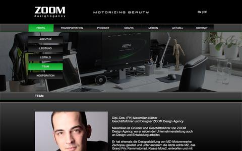 Screenshot of Team Page zoomdesignagency.com - About ZOOM design agency - captured Sept. 20, 2018