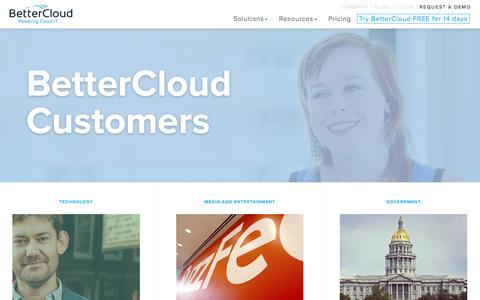 Screenshot of Case Studies Page bettercloud.com - BetterCloud - Customer Stories - captured July 3, 2016
