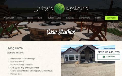 Screenshot of Case Studies Page jakesdesigns.com - Case Studies - captured Sept. 20, 2018