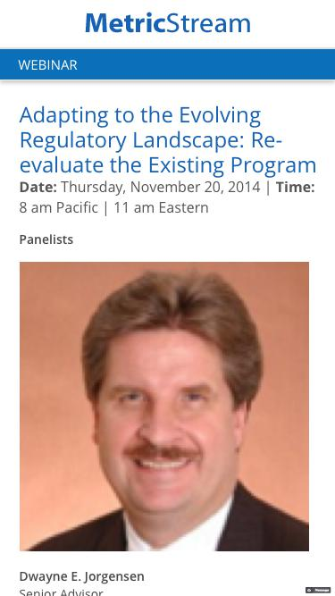 WEBINAR: Adapting to the Evolving Regulatory Landscape: Re-evaluate the Existing Program
