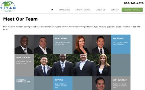 Screenshot of Team Page titan-enviro.com - Meet Our Team - Titan Environmental Solutions - captured Oct. 19, 2018