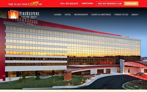 Screenshot of Contact Page firekeeperscasino.com - Contact - Firekeepers Casino Hotel - captured Oct. 6, 2019