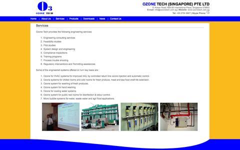 Screenshot of Services Page ozonetech.com.sg - Ozone Tech (Singapore) Pte Ltd. - captured Oct. 26, 2014