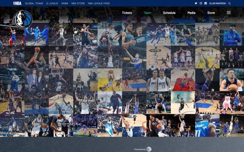 Screenshot of Team Page mavs.com - Players – The Official Home of the Dallas Mavericks - captured Aug. 16, 2019