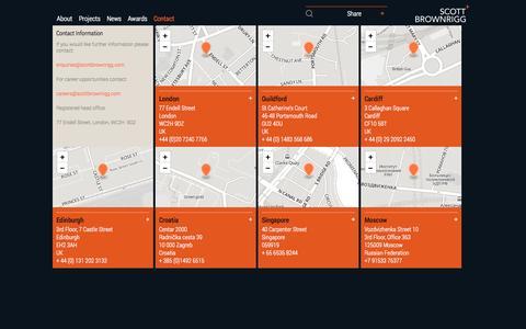 Screenshot of Contact Page scottbrownrigg.com - Scott Brownrigg :: Contact - captured Sept. 30, 2014