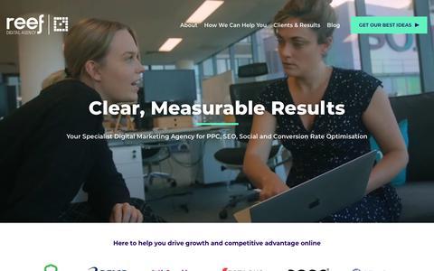 Screenshot of Home Page reefdigital.com.au - Reef: Digital Marketing Agency | Sydney AdWords, SEO, PPC - captured June 19, 2019