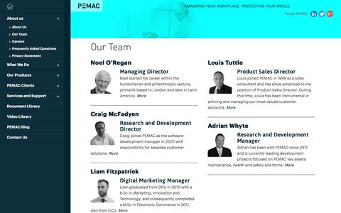 Screenshot of Team Page pemac.com - PEMAC | Our Team - PEMAC Management Team - captured May 4, 2017
