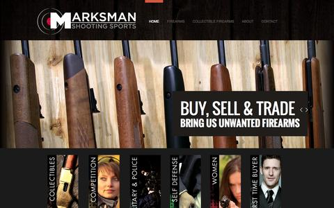 Screenshot of Home Page Privacy Page marksmanshooting.com - Marksman Shooting Sports Home - captured Oct. 6, 2014
