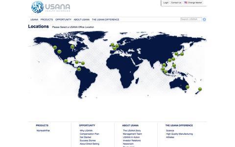 Screenshot of Contact Page usana.com - Welcome to USANA.com! - captured Oct. 29, 2014