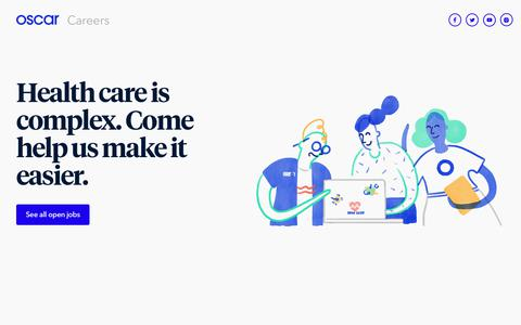Oscar | Careers - Come help us change health care