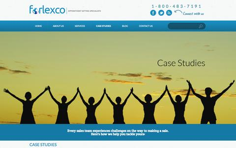 Screenshot of Case Studies Page forlexco.com - Case Studies | forlexco - captured Sept. 30, 2014