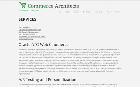 Screenshot of Services Page commerce-architects.com - Commerce Architects | Oracle Web Commerce Consulting | Services - captured Sept. 30, 2014