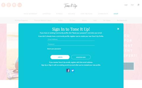 Screenshot of Login Page toneitup.com - My Tone It Up - Shop the Tone It Up Store - captured May 4, 2017