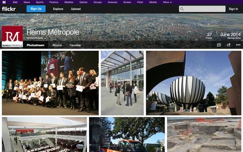 Screenshot of Flickr Page flickr.com - Flickr: reimsmetropole's Photostream - captured Oct. 25, 2014