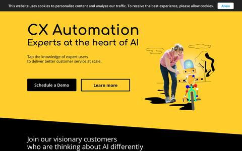 Screenshot of Home Page directly.com - Directly | CX Automation | Experts at the Heart of AI - captured Dec. 7, 2018