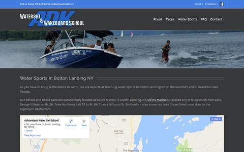 Screenshot of Maps & Directions Page adkwaterski.com - Water Sports In Bolton Landing NY! Lake George Waterski Experts Adirondack Water Ski & Wakeboard School - captured Nov. 20, 2016