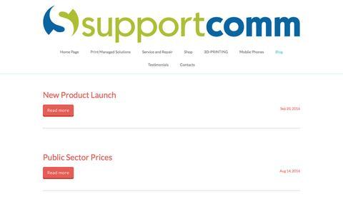 Screenshot of Blog supportcomm.co.uk - Supportcomm - captured Dec. 3, 2016