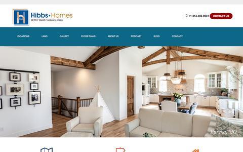 Screenshot of Home Page hibbshomes.com - Custom Home Builder in St. Louis and St. Charles   Hibbs Homes - captured Nov. 11, 2019