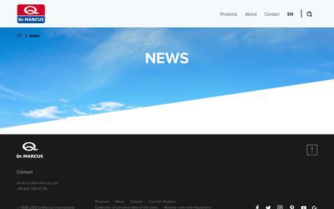 Screenshot of Press Page dr-marcus.com - News - Producent odświeżaczy i zapachów samochodowych, kosmetyki - Dr.Marcus - captured Aug. 8, 2018