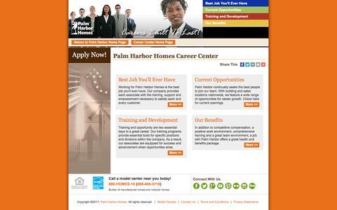 Screenshot of Jobs Page palmharbor.com - Career Opportunities | Palm Harbor Homes - captured Nov. 30, 2017