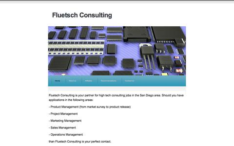 Screenshot of Home Page fluetschconsulting.com - Fluetsch Consulting - captured Aug. 16, 2018