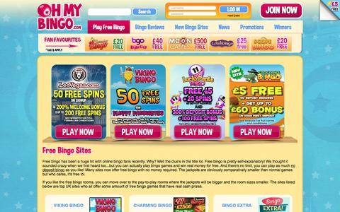 Screenshot of ohmybingo.com - Free Online Bingo Sites | March 2016 | Oh My Bingo - captured March 19, 2016