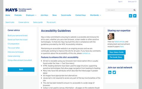 Accessibility guidelines  | Hays